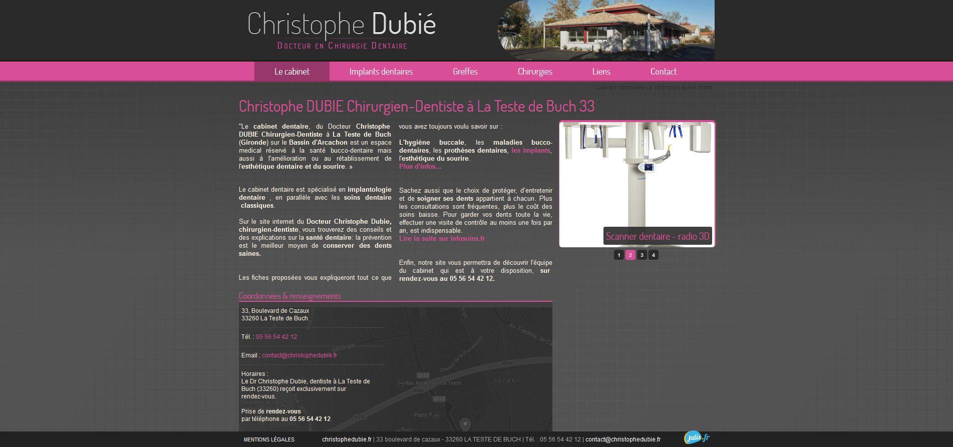 christophe dubi chirurgien dentiste la teste de buch. Black Bedroom Furniture Sets. Home Design Ideas